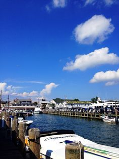 A view from a docked boat in Greenport, NY