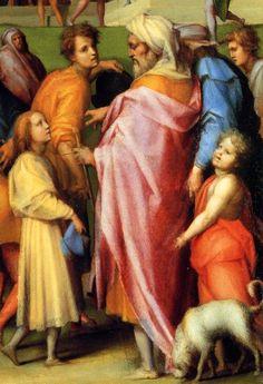 Leonardo da Vinci with three of his five children, his elder son Francesco da Melzo, his eldest daughter Giovanna and his younger son Antonio