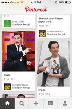 This just pulled up on my Pinterest. It's Ben-pointing-inception!(=