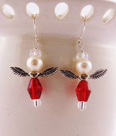 Sale  Christmas Earrings  Gift Idea by kitscreations on Etsy, $15.00