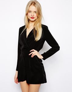 Image 1 ofASOS Playsuit With Wrap Front: with space tights maybe?