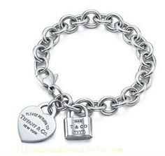 Tiffany  Co Outlet Return To Heart and Lock Tag Bracelet