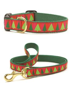 This Festive Trees Pet Collar & Leash is perfect! #zulilyfinds