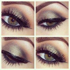 Bronze smokey eye makeup for Hazel eyes!