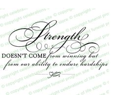 Ready made predesigned Inspirational Quotes About Life : Strength Elegant Title. Inserts into any document.