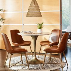 Tulip Dining Table, Dining Chair Set, Table And Chairs, Dining Room, World Market Dining Chairs, Leather Dining Chairs, Round Area Rugs, Affordable Home Decor, Fashion Room
