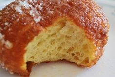 """Leonard's Malasada Recipe - I was going through Mom's box of recipes that she has been collecting for years and I came across an envelope with a stack of recipe cards. As I shuffled through the cards, I see """"Hot Malasadas - Leonard's Bakery - Courtes Just Desserts, Delicious Desserts, Dessert Recipes, Yummy Food, Cake Recipes, Hawaiian Desserts, Hawaiian Recipes, Great Recipes, Favorite Recipes"""
