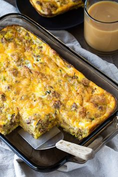 Put that leftover sausage stuffing to a good use and make this delicious breakfast casserole. You only need 4 ingredients and it feeds a crowd! Stuffing Recipes, Leftovers Recipes, Brunch Recipes, Sausage Stuffing, Breakfast Recipes, Chicken Stuffing, Turkey Leftovers, Chicken Soups, Milk Recipes