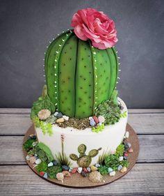 Beautiful cakes decorated with cacti and succulents- Bellísimas tortas decoradas con cactus y suculentas Beautiful cakes decorated with cacti and succulents Food Cakes, Cupcake Cakes, Mini Cupcakes, Beautiful Cakes, Amazing Cakes, Cactus Cake, Cactus Cactus, Baby Cactus, Pear Cake