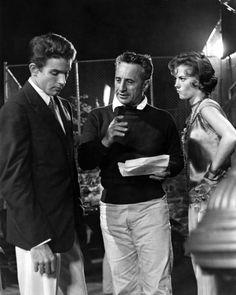 "Elia Kazan directing Warren Beatty & Natalie Wood on the set of ""Splendor in the grass"""