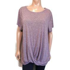 Studio by Energy Zone Twist Hem Active Top Womens Plus Size 2X Purple Tshirt #Studio #Basic #Casual Tunic Tops, Blouses, Plus Size, Studio, Purple, Casual, T Shirt, Women, Fashion