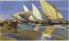 Return From Fishing   Joaquin Sorolla y Bastida   oil painting