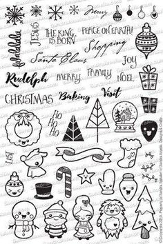 Christmas Doodles - Planner Stamp Set (In Stock)