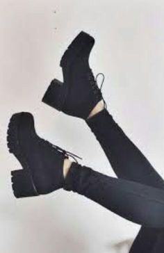 shoes boots black laced high heels chunky heel winter boots jeans black boots block heel lace up block heels ankle boots high heel girl grunge shoes g. Black High Heels, Black Ankle Boots, Ankle Booties, White Heels, Shoe Boots, Shoes Heels, Shoe Bag, Jeans Shoes, Denim Jeans