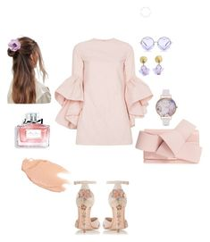 """""""романтика/romantic style"""" by kati-style-istanbul ❤ liked on Polyvore featuring Dune, Marques'Almeida, Ted Baker, ASOS, Chanel, Olivia Burton, Michael Michaud, Christian Dior and Too Faced Cosmetics"""