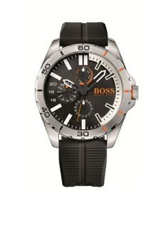 Boss By Hugo Boss Men's Men's Orange Berlin Watch - Black - One Size