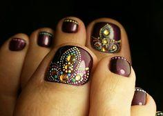 @IIIannaIII Mani Pedi, Beauty Nails, Nail Designs, Make Up, Nail Art, Pedicures, Gemstones, Polish, Toe