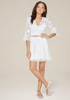 B darlin long lace dress 6390