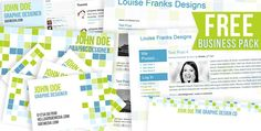 Free business pack from Louise Franks Designs; includes WordPress theme, Blogger Template, single/double sided business card, Twitter background, Facebook cover and letter head.