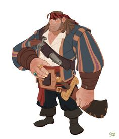 "ArtStation - Personal project - The sea king contest. ""uncle buck"", Hong SoonSang"