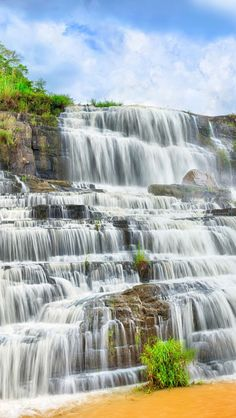 Pongour Waterfall, Vietnam  Please like, share, repin or follow us on Pinterest to have more interesting things. Thanks. http://hoianfoodtour.com/