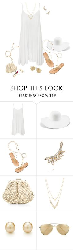 """""""~Swing Dress~"""" by justwanderingon ❤ liked on Polyvore featuring WearAll, Chico's, Kenneth Jay Lane, Accessorize, Alexis Bittar, Le Specs, Clarins, whitedress and swingdress"""