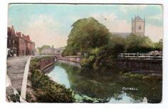 Vintage postcard Outwell, Norfolk showing the river & church. pmk Wisbech 1908 | eBay