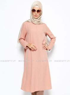 islamische kleidung fuer frauen mymodestystyle.com besuchen sie unsere shop #hijab #abayas #tuekische kleider #abendleider #islamischekleidung  Long Tunic - Powder - Allday - <p>Fabric Info:</p> <p>100% Polyester</p> <br> <p>Weight: 0.292 kg</p> <p>Measures of 38 size:</p> <p>Height: 115 cm</p> <p>Bust: 100 cm</p> <p>Waist: 104 cm</p> <p>Skirt Width: 166 cm</p> - SKU: 223146. Buy now at http://muslimas-shop.com/long-tunic-powder-allday.html