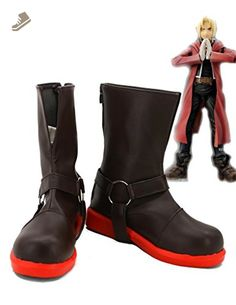 Fullmetal Alchemist Edward Elric Cosplay Shoes Boots Custom Made 1 - Telacos sneakers for women (*Amazon Partner-Link)