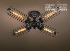 2015 Industrial Iron Light DIY Ceiling Lamp Chandelier – westmenlights--Edison industrial lighting supplier and designer