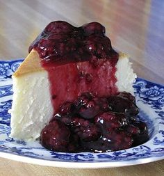 Recipe for New York Cheesecake with Blackberry Topping - This is the single best cheesecake I have ever had. I discovered this Jim Fobel's cookbook about 20 years ago, and it is the one I return to again and again. It is creamy smooth, lightly sweet, with a touch of lemon. This cheesecake has become the favorite of family and friends who've had the good fortune to be served this slice of heavenly goodness.