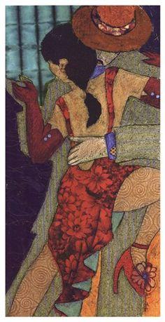 Tango Night II Art Print by Penny Feder