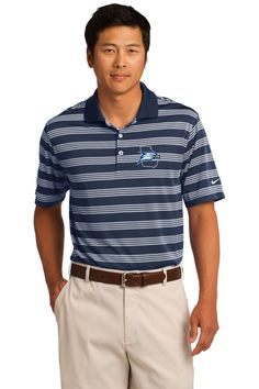 bec4cc24b Nike Golf Dri-FIT Tech Stripe Polo Take the course in a comfortable,  classically