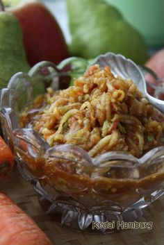 Shredded Rujak / Rujak Serut - Rujak is a popular traditional fruit and vegetable salad dish in Indonesia.