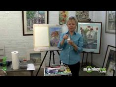 Watercolor Painting - Preserving Whites in painting by using masking fluid