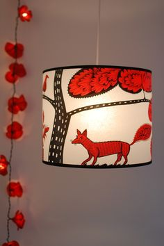 red foxy lampshade
