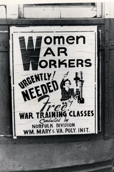 Women did all the work while men were off to war.