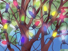 3 Ways to Hang Lights on a Christmas Tree - wikiHow