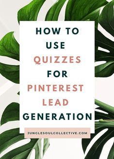 Lead generation quiz marketing tip! Are you looking for a new way to drive traffic to your quiz and generate leads? What if I told you can do it on autopilot with Pinterest? Pinterest combined with your quiz is a great lead generation tool. Click to learn how to use Pinterest to market your quiz and grow your list. Pinterest funnel included! #junglesoulcollective #pinterestmarketing #pinteresttips #leadmagnet #emailmarketing #interactquiz #leadgeneration Email Marketing Strategy, Business Marketing, Business Tips, Online Marketing, Social Media Marketing, Online Business, Digital Marketing, Business Planning, Opt In