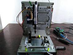 How to make mini CNC 2D plotter using scrap DVD drive, L293D