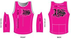 Custom US Triathlete Tri top