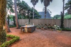 206 MILLBROOK ST HOUSTON, TX 77024: Photo Outdoor living space off wine bar.