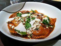 Cope's Corn Ravioli at Serpico. Like an enchilada inside a ravioli. Hola bellisimo!
