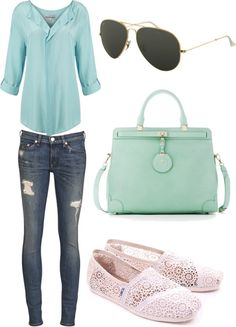 Spring Outfit-if you take away the ripped jeans. :)
