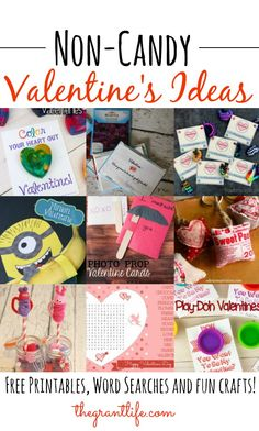 Easy Non Candy Valentine's Ideas for kids!  If you are looking for some cute non-candy Valentine's.. here they are!  #valentines #ideas #noncandy