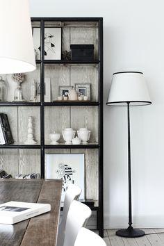 | black metal frame cabinet doors for industrial look |