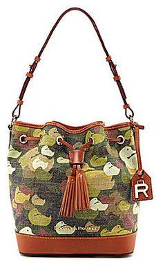 Dooney & Bourke Robertson Collection Camo-Print Drawstring Bag on shopstyle.com