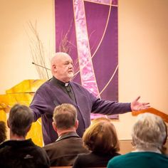 "March 6, 2017: Paulist Fr. John Collins leading a morning session of his parish mission ""Give God a Second Thought"" at Holy Cross Church in Dewitt, NY."