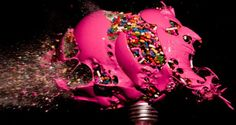 High Speed Photos of Exploding Light Bulbs. Indiana-based photographer Jon Smith invites everyone to the fascinating world of high speed photography with his colorful series of exploding light bulbs. Bulb Photography, High Speed Photography, Lombok, Light Bulb Art, Soul Design, Colored Chalk, True Art, Unique Lighting, Science Art