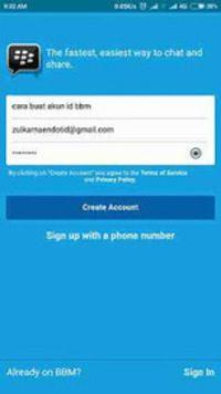 Cara Daftar ID BBM - Cara Membuat Akun BBM di Android dengan menggunakan email, disini saya menggunakan email gmail. Bagi yang belum punya email silahkan baca tutorial cara buat email di hp android terlebih dahulu, tapi kalau sudah punya email lain silahkan saja digunakan. Karena semua jenis email bisa digunakan untuk daftar BBM, entah itu email gmail, yahoo, hotmail, dan email email lainya seperti yang dengan nama domain sendiri.